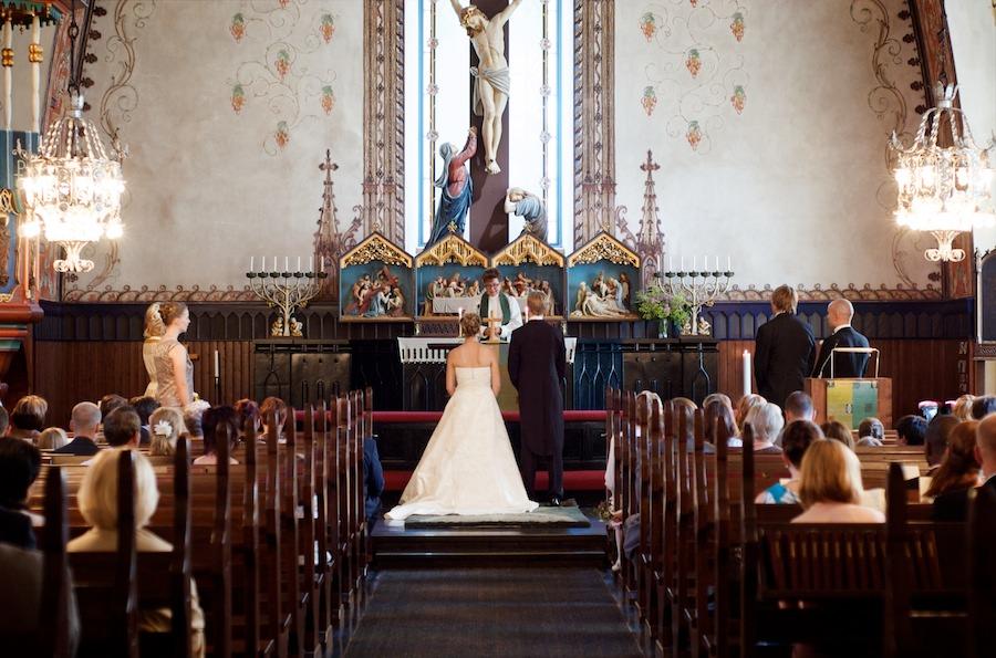 Martan ja Jannen vihkiminen Lammin kirkossa