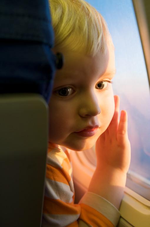Aapo lentokoneessa
