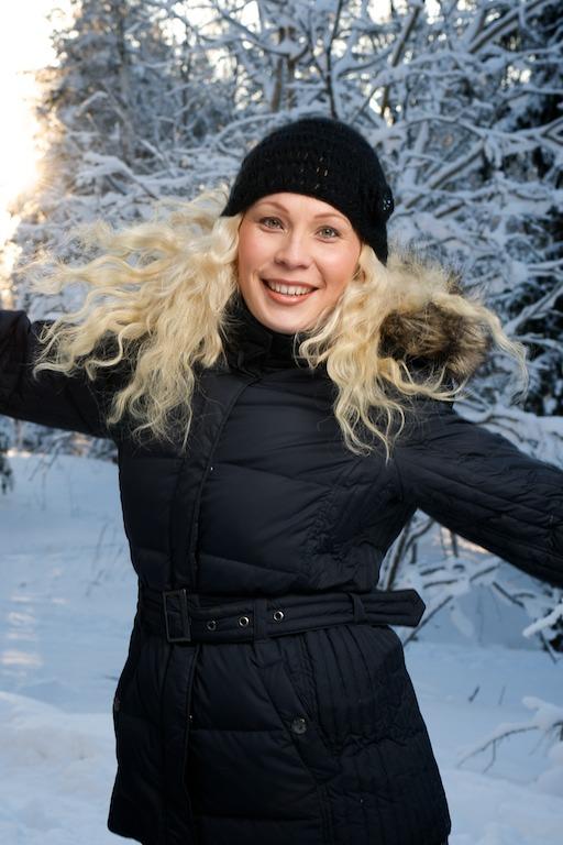 Heidi talvisissa maisemissa
